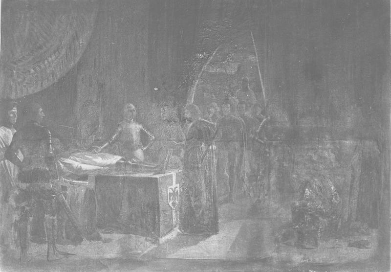 Tableau : Du Guesclin sur son lit de mort