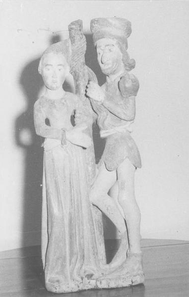 Groupe sculpté : sainte Apolline et son bourreau