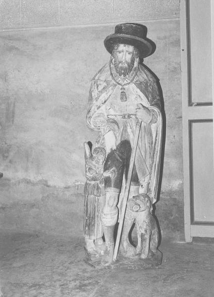 statue du maître-autel : sainte Roch, vue générale