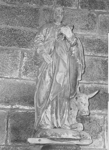 Groupe sculpté : saint Luc