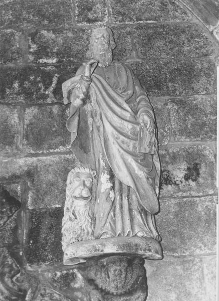 Groupe sculpté : saint Marc