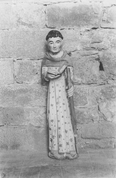 statue : saint Fiacre, vue générale