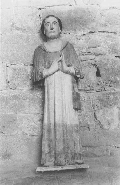 statue : saint Maudez, vue générale