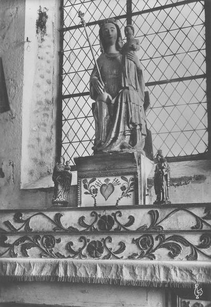 statue dite Notre-Dame-An-Isquit : Vierge à l'enfant, vue générale