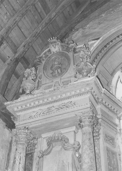 retable du maître-autel, vue partielle