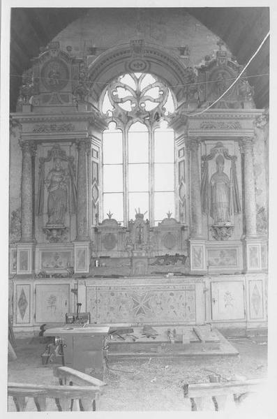 Prédelle, exposition du maître-autel