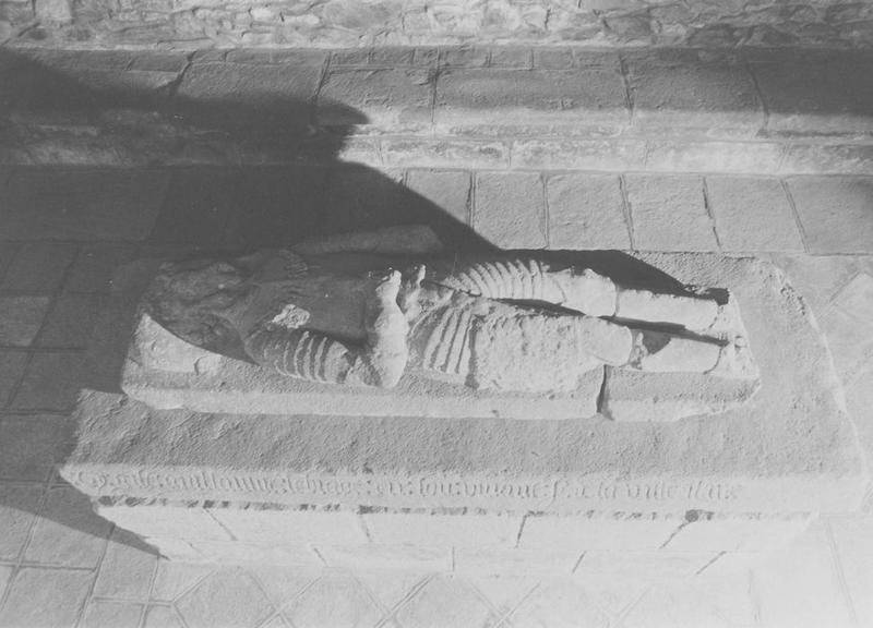 statue, dalle funéraire (gisant), vue générale