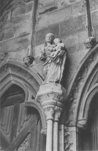 statue dite Notre-Dame-de-la-Clarté : Vierge à l'enfant, vue générale