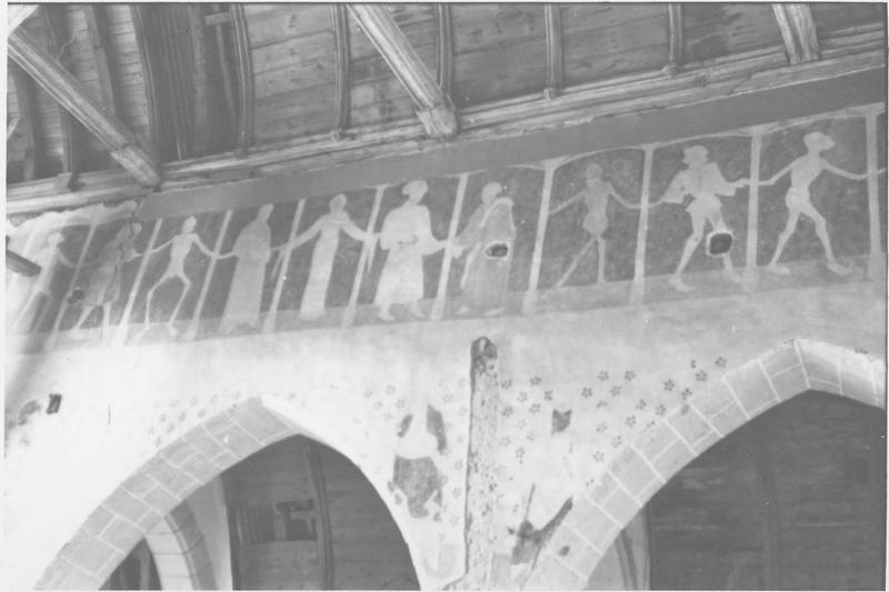 Peintures monumentales : Danse macabre, vue partielle