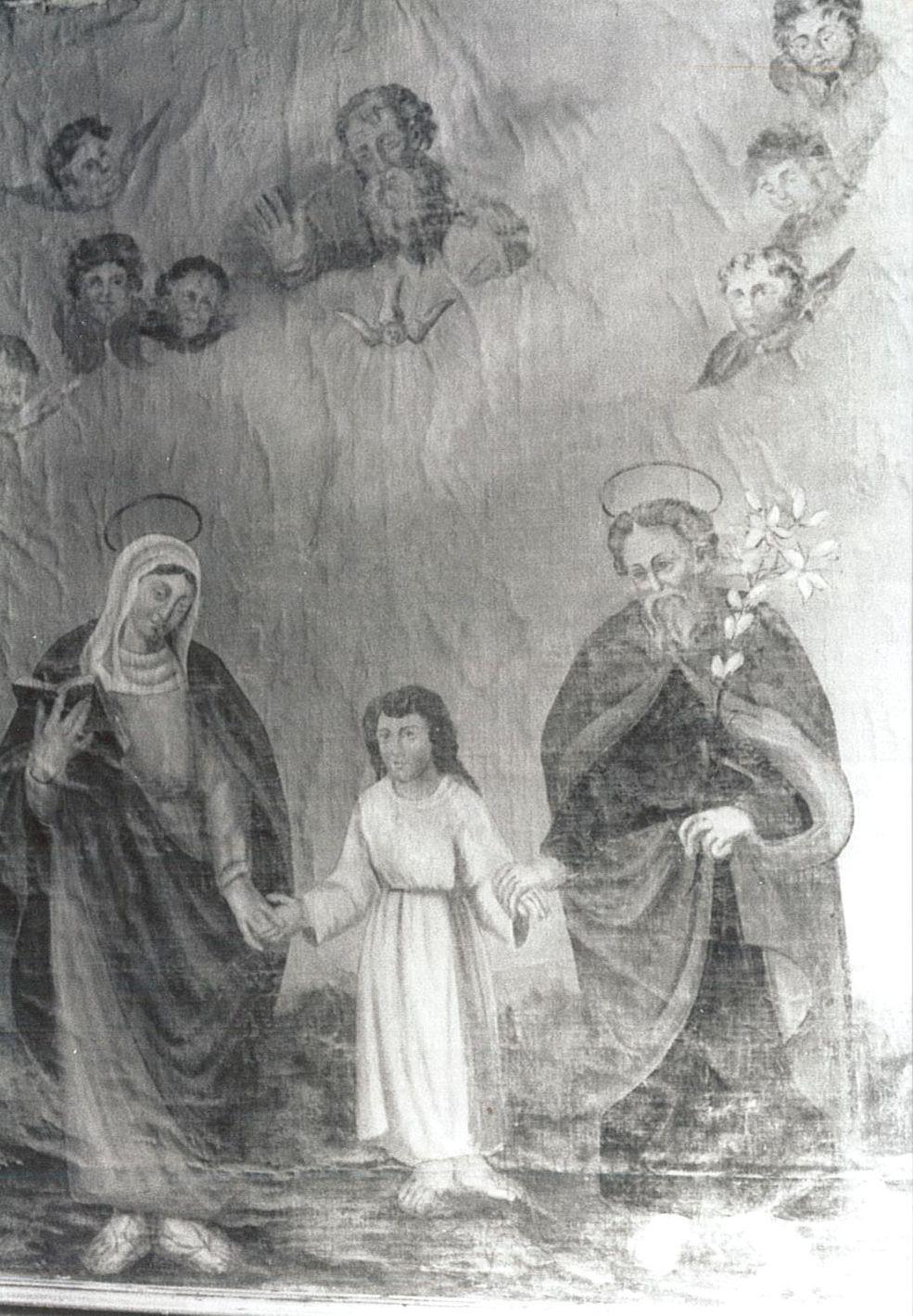 Tableau : Sainte Famille et Trinité