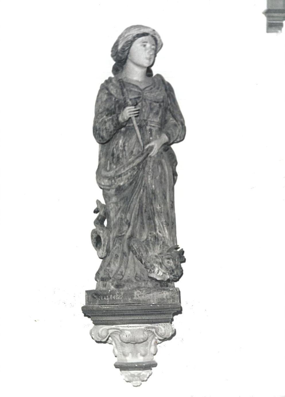 statue : Sainte Marguerite, vue générale