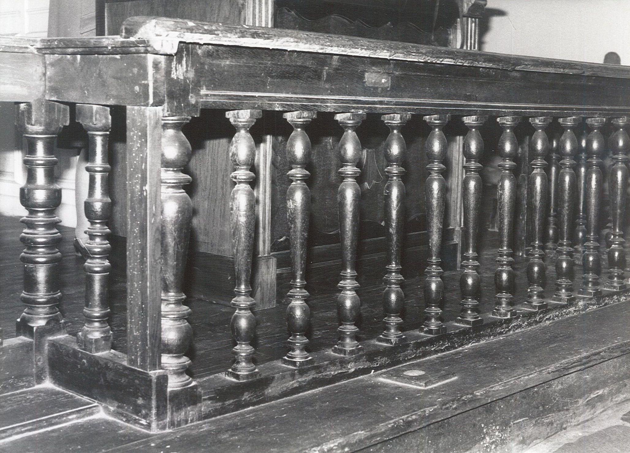 clôture d'autel (table de communion), vue partielle