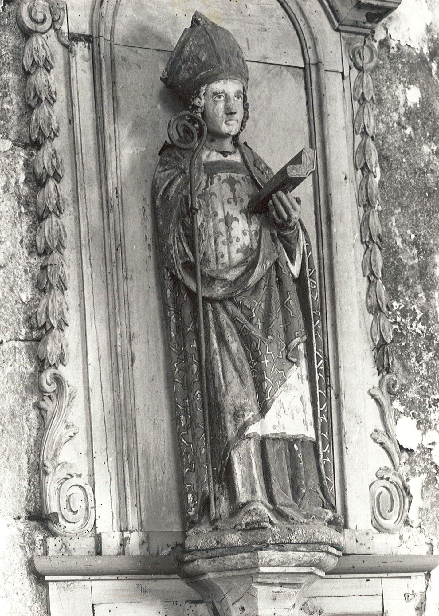 statue : Saint Blaise , vue générale