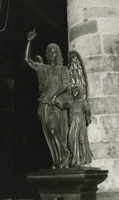groupe sculpté : L'Ange et le jeune Tobie, vue générale