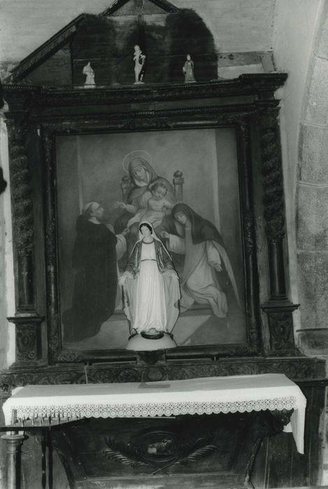 Retable avec tableau: La donation du Rosaire, vue générale