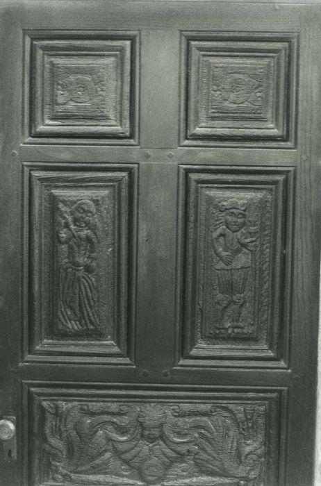 Porte de la sacristie (vantail), vue générale