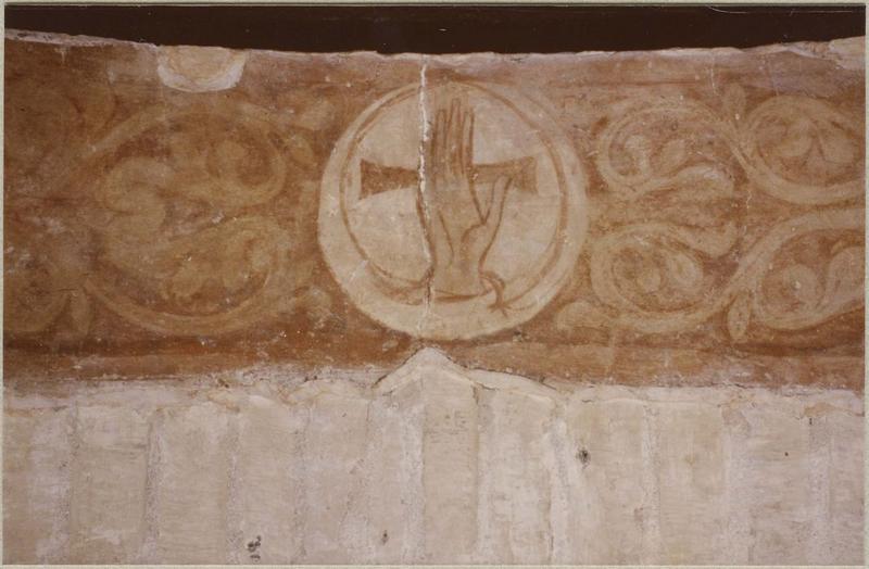 Peinture murale, détail: main bénissante