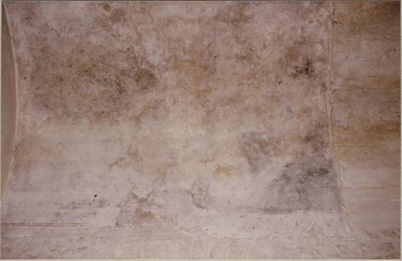 Peinture murale: Christ en gloire entouré des symboles des évangélistes, vue partielle