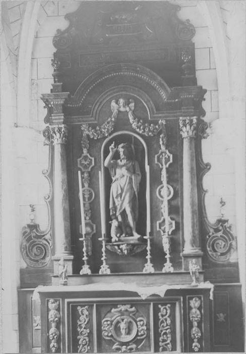 retable, autel de saint Jean-Baptiste, vue générale