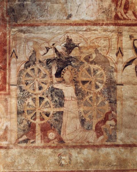 Peinture monumentale, seconde travée sud : Martyr de sainte Catherine, vue générale