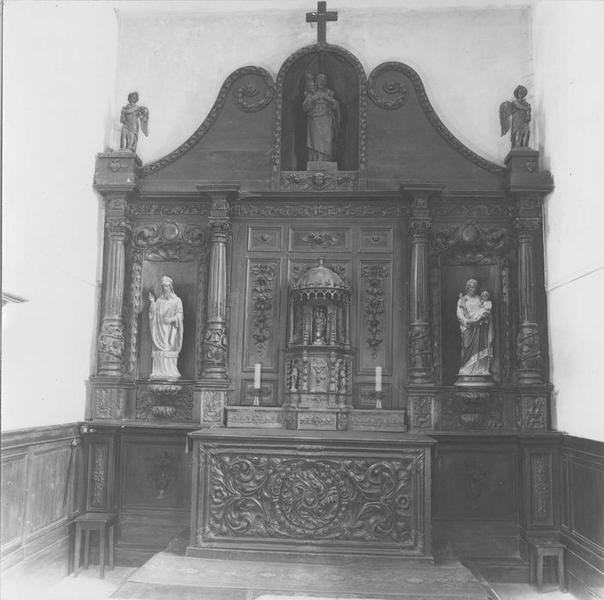 Maître-autel, tabernacle, retable, boiseries (maître-autel)