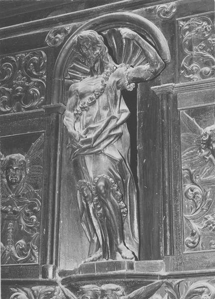 statue du retable du maître-autel: saint Jean-Baptiste, vue générale