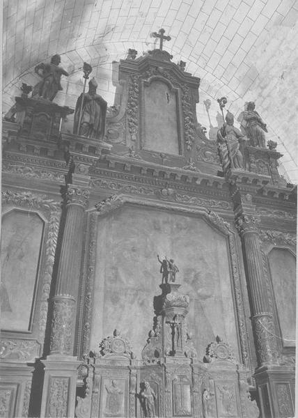 Retable (retable architecturé), du maître-autel