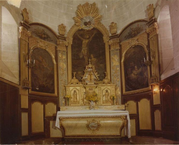 autel (maître-autel), vue générale