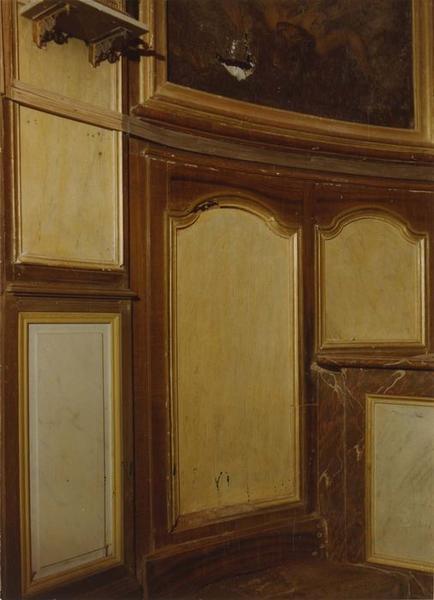 Maître-autel, retable, tableaux (maître-autel, tabernacle à ailes et dais d'exposition, retable architecturé)