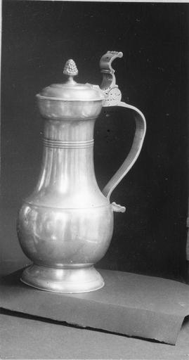pichet à vin, étain, IIB, Mulhouse, 18e siècle