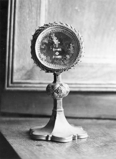 reliquaire, cuivre doré, 16e siècle