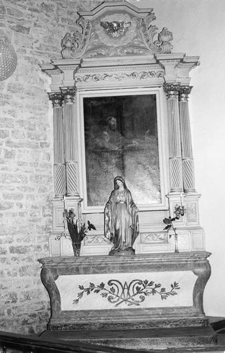 autel latéral nord, retable, tableau, 18e siècle