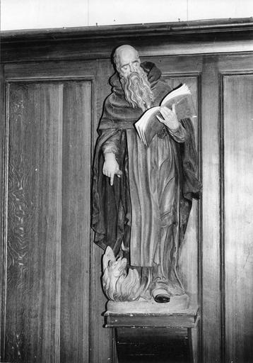 statue : Saint Antoine, bois polychrome, 18e siècle
