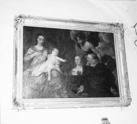 tableau : Vierge à l'Enfant aux donateurs, par Pieter Thys, 17e siècle