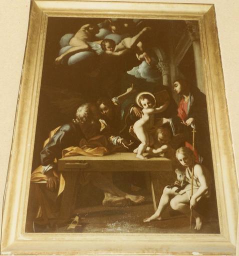 tableau : La Sainte Famille, par Bartolomeo Schédone, 17e siècle