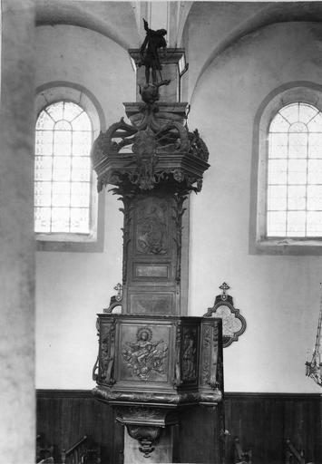 chaire à prêcher, bois, 2e moitié 18e siècle