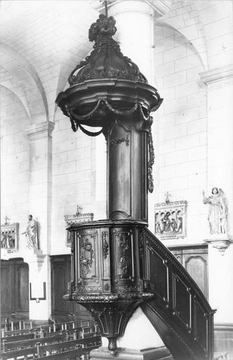 chaire à prêcher, bois verni, dorure, époque Louis XVI
