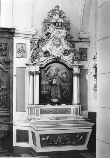 autel latéral sud, retable, tableau