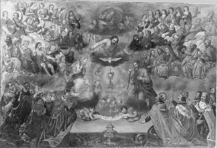 tableau : L'Adoration du saint Sacrement, première moitié du 17e siècle