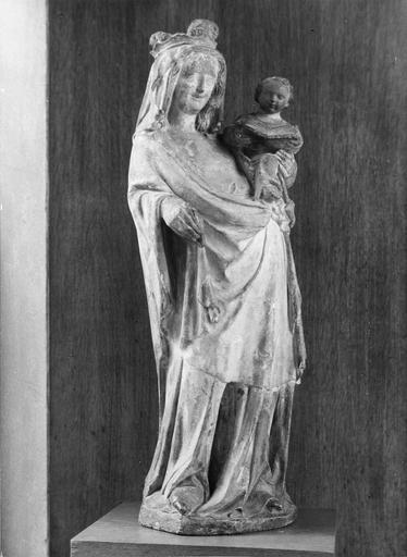 statue : Vierge à l'Enfant, 14e siècle