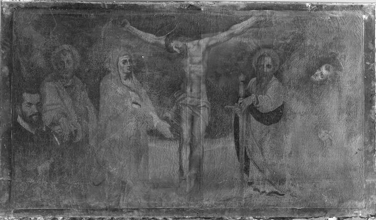 tableau : La Crucifixion, avant restauration