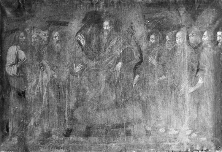 tableau : La Primauté de saint Pierre, avant restauration