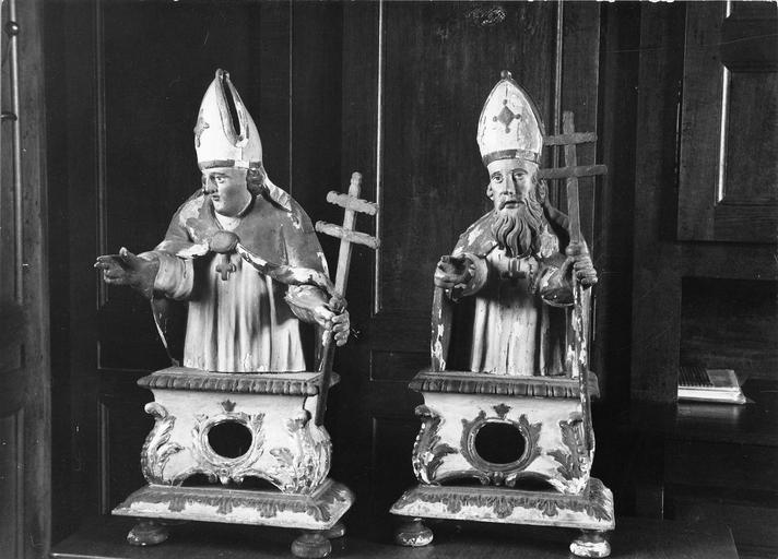 deux bustes-reliquaires, 1762
