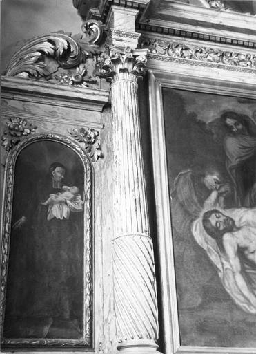 tableau : Saint Vincent de Paul à droite du retable latéral