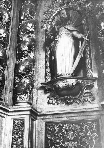 statue : Saint Paul du retable du maître-autel