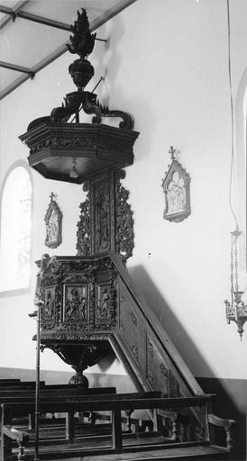 chaire à prêcher, bois, début 18e siècle