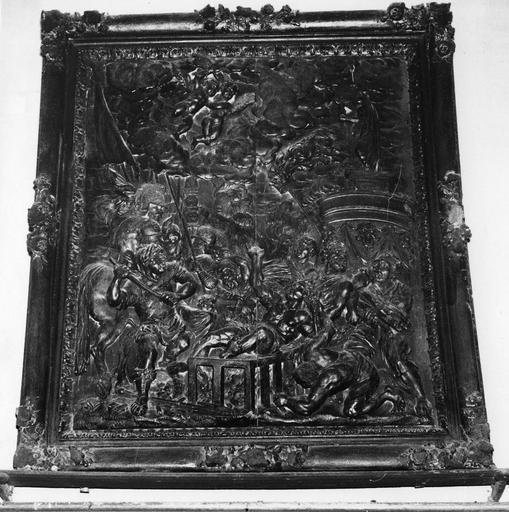 bas-relief : Le Martyre de saint Laurent et son cadre