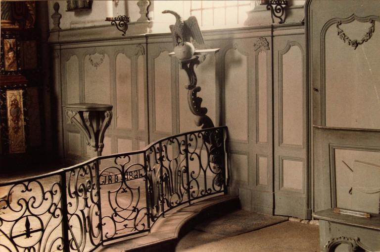 clôture de choeur, grille de communion, fer forgé, 1821