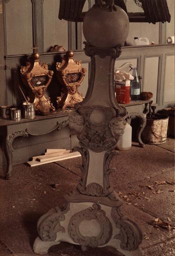 aigle-lutrin, détail du pied, 18e siècle