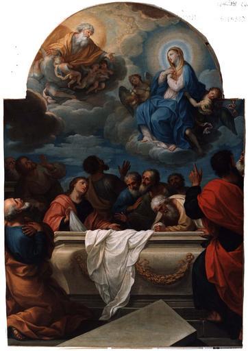 tableau : L'Assomption, huile sur toile, 18e siècle, après restauration